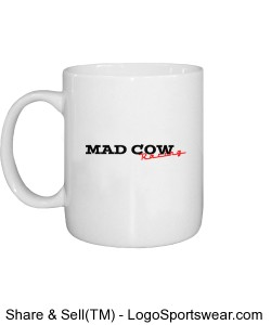 Mad Cow Racing Coffee Cup 2 Design Zoom