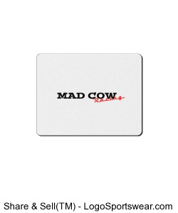 Mad Cow Racing Mouse Pad Design Zoom